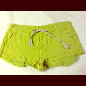 Free People Linen Cotton Blend Rope Belt Shorts